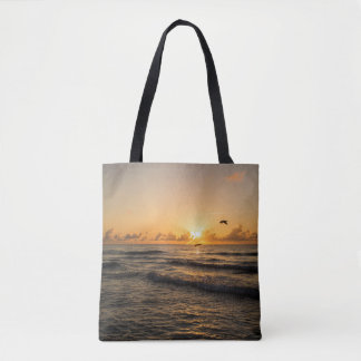 Sunrise over Miami All over print Tote Bag