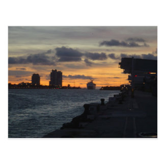 Sunrise Over Miami Postcard