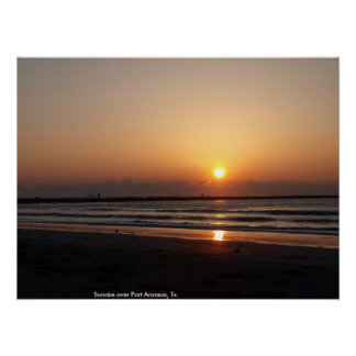 Sunrise over Port Aransas, Tx. Poster