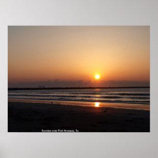 Sunrise over Port Aransas Tx Posters