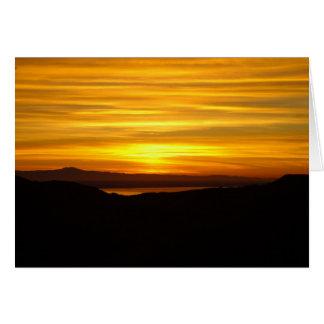 SUNRISE OVER SANTA MONICA BAY NOTE CARD