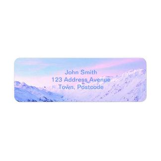Sunrise over Snowy Mountains Return Address Label