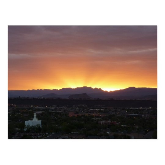 Sunrise over St. George Utah Landscape Postcard