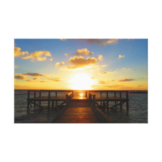 Sunrise Over the Caribbean Sea Canvas Print