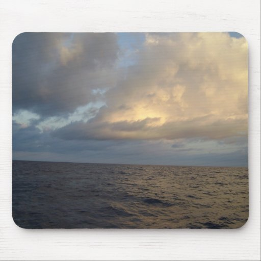 Sunrise over the ocean mouse pad