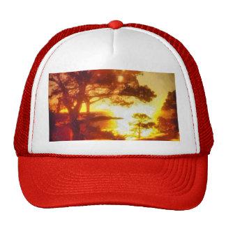 Sunrise Over the Ocean Painting Mesh Hat