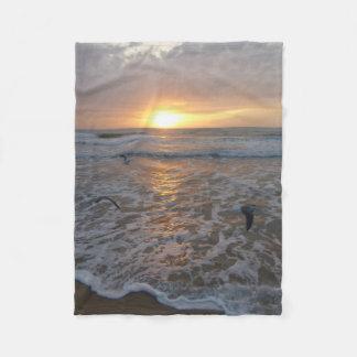 Sunrise Over the Ocean Throw Blanket
