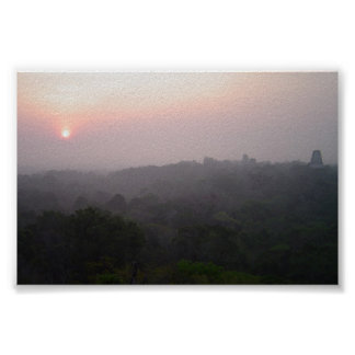 Sunrise over Tikal Poster