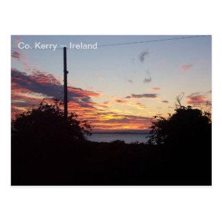 Sunrise over Tralee Bay, Co. Kerry, Ireland. Postcard