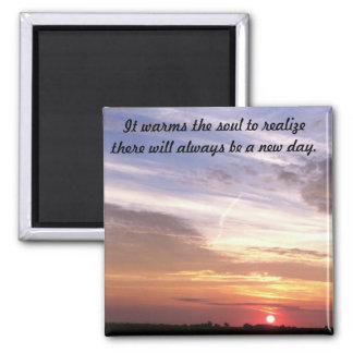 sunrise over wagner south dakota refrigerator magnet