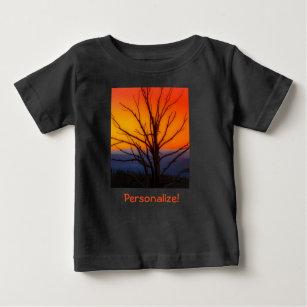 Sunrise Over Yellowstone National Park Design Baby T-Shirt