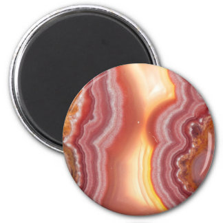 Sunrise Pink Orange Yellow Agate Magnet