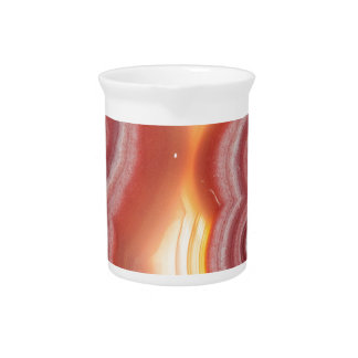 Sunrise Pink Orange Yellow Agate Pitcher