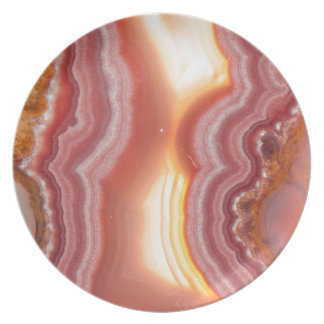 Sunrise Pink Orange Yellow Agate Plate