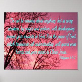Sunrise Prayer Philippians 4:6 Poster