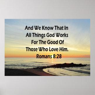 SUNRISE ROMANS 8:28 SCRIPTURE VERSE POSTER