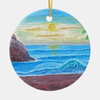 sunrise round ceramic decoration