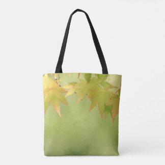 Sunrise Serenity Autumn Maple Leaves Tote Bag