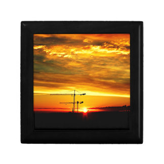 Sunrise silhouetting Cranes Gift Box