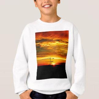 Sunrise silhouetting Cranes Sweatshirt