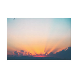 Sunrise | Sky | Aircraft Canvas Print