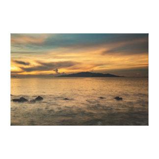 Sunrise Sky Nha Trang Bay Vietnam Canvas Print