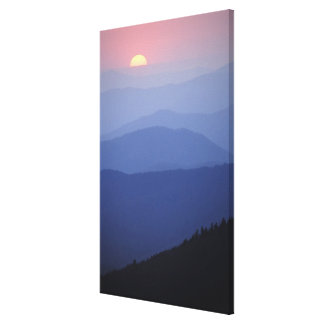 Sunrise, Southern Appalachian Mountains, Great Gallery Wrap Canvas