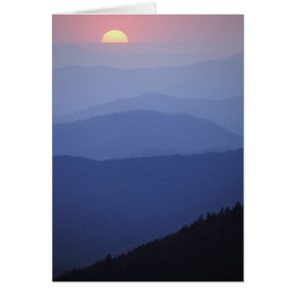 Sunrise, Southern Appalachian Mountains, Great Greeting Card
