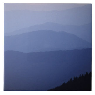 Sunrise, Southern Appalachian Mountains, Great Large Square Tile