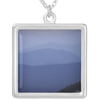 Sunrise, Southern Appalachian Mountains, Great Square Pendant Necklace