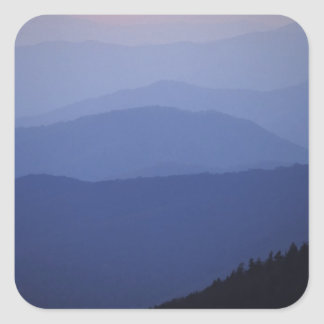 Sunrise, Southern Appalachian Mountains, Great Square Sticker