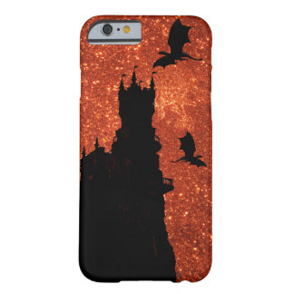 Sunrise sparkle/glitter, dragon, frost Castle Barely There iPhone 6 Case