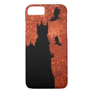 Sunrise sparkle/glitter, dragon, frost Castle iPhone 8/7 Case