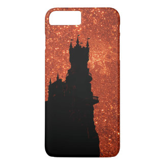 Sunrise sparkle, natural glitter frost Castle iPhone 8 Plus/7 Plus Case