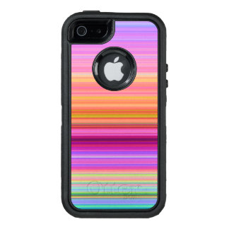 Sunrise stripes OtterBox defender iPhone case