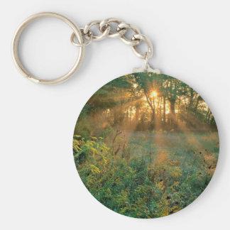Sunrise Sunbeams Nashville Basic Round Button Key Ring