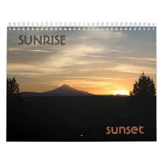Sunrise Sunset Wall Calendar