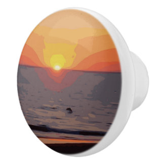 SUNRISE-SUNSET CERAMIC KNOB