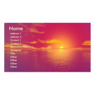 Sunrise Sunset Pack Of Standard Business Cards