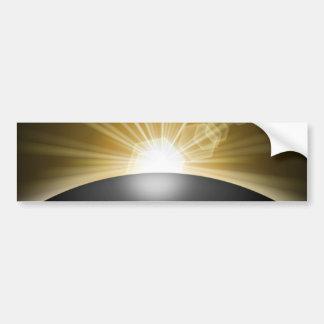 Sunrise Sunset Planet Bumper Sticker
