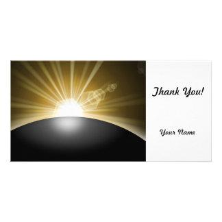 Sunrise Sunset Planet Photo Greeting Card