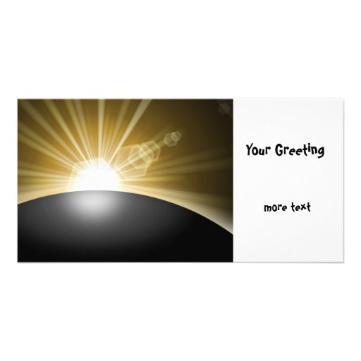 Sunrise Sunset Planet Customized Photo Card