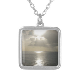 Sunrise Sunset Square Pendant Necklace