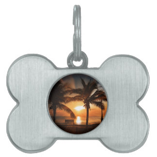 Sunrise Sunset Sun Pet ID Tag