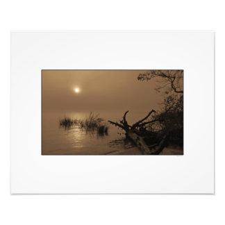 Sunrise through Fog on Winyah Bay Art Photo