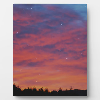 Sunrise through stars, dreaming display plaque