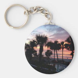 Sunrise through the Palm Trees Key Chains