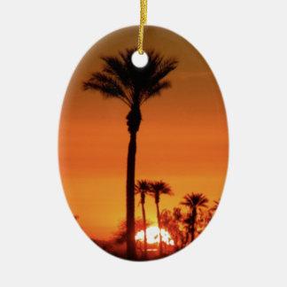 Sunrise Tree Ceramic Oval Decoration