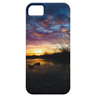 Sunrise - violet and blue iPhone 5 cases