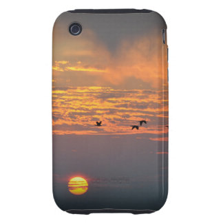 Sunrise with Birds iPhone Case Tough iPhone 3 Case